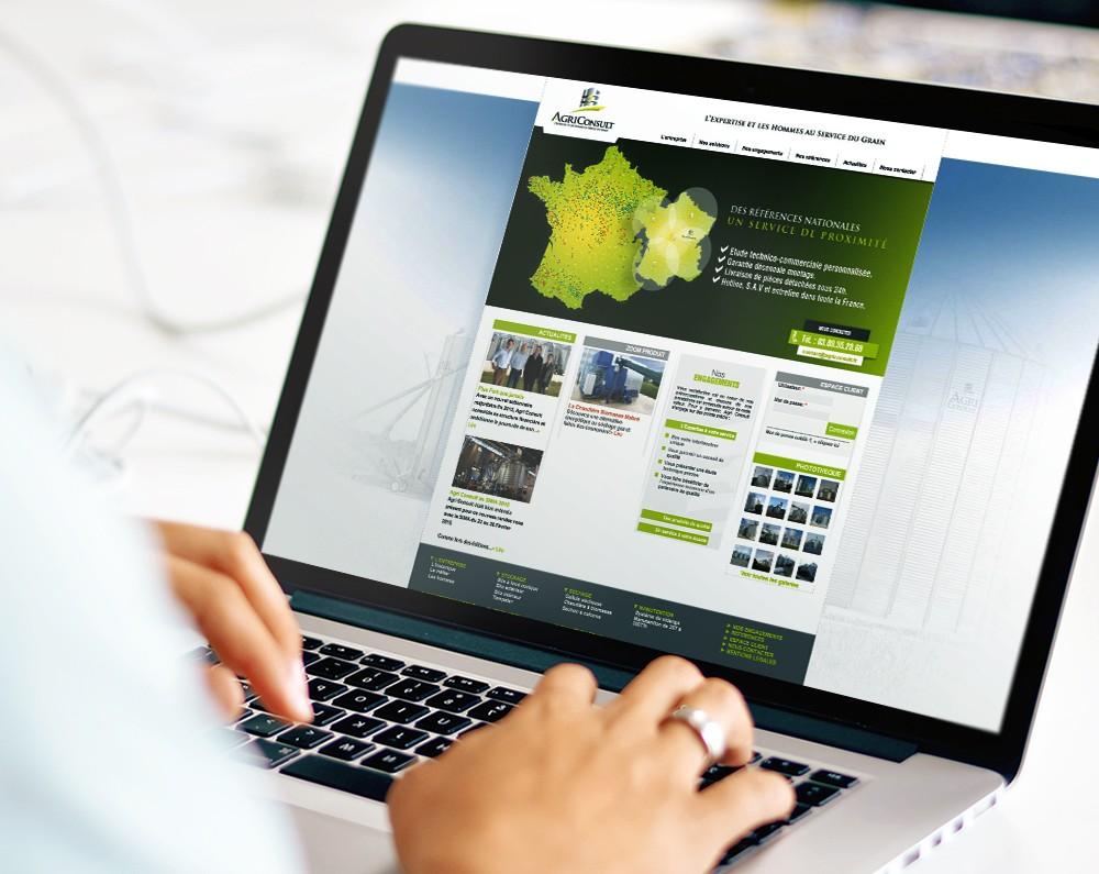 Site internet AgriConsult par La Griffe, Agence de communication, design et web à Dijon
