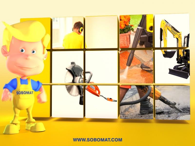 Ecran 3D Sobomat par La Griffe, Agence de communication, design et web à Dijon