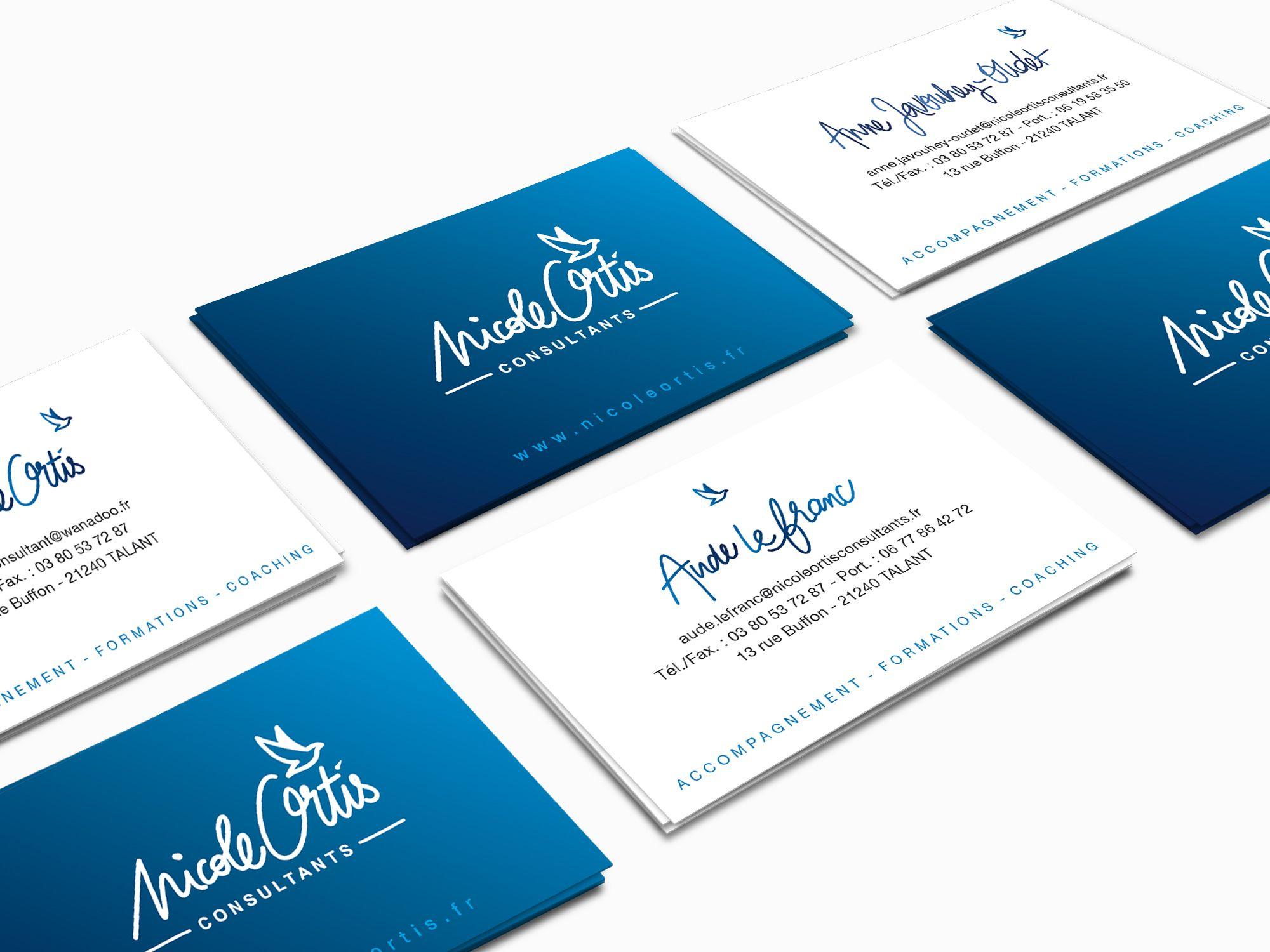 Cartes De Visites Nicole Ortis Par La Griffe Agence Communication Design Et Web