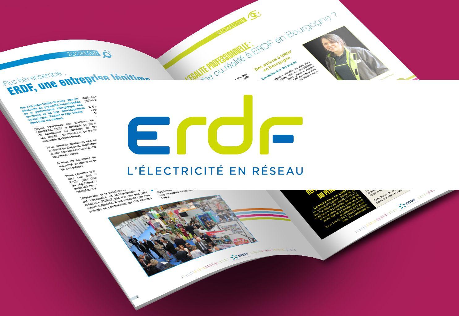 Revue interne ERDF par La Griffe, Agence de communication, design et web à Dijon