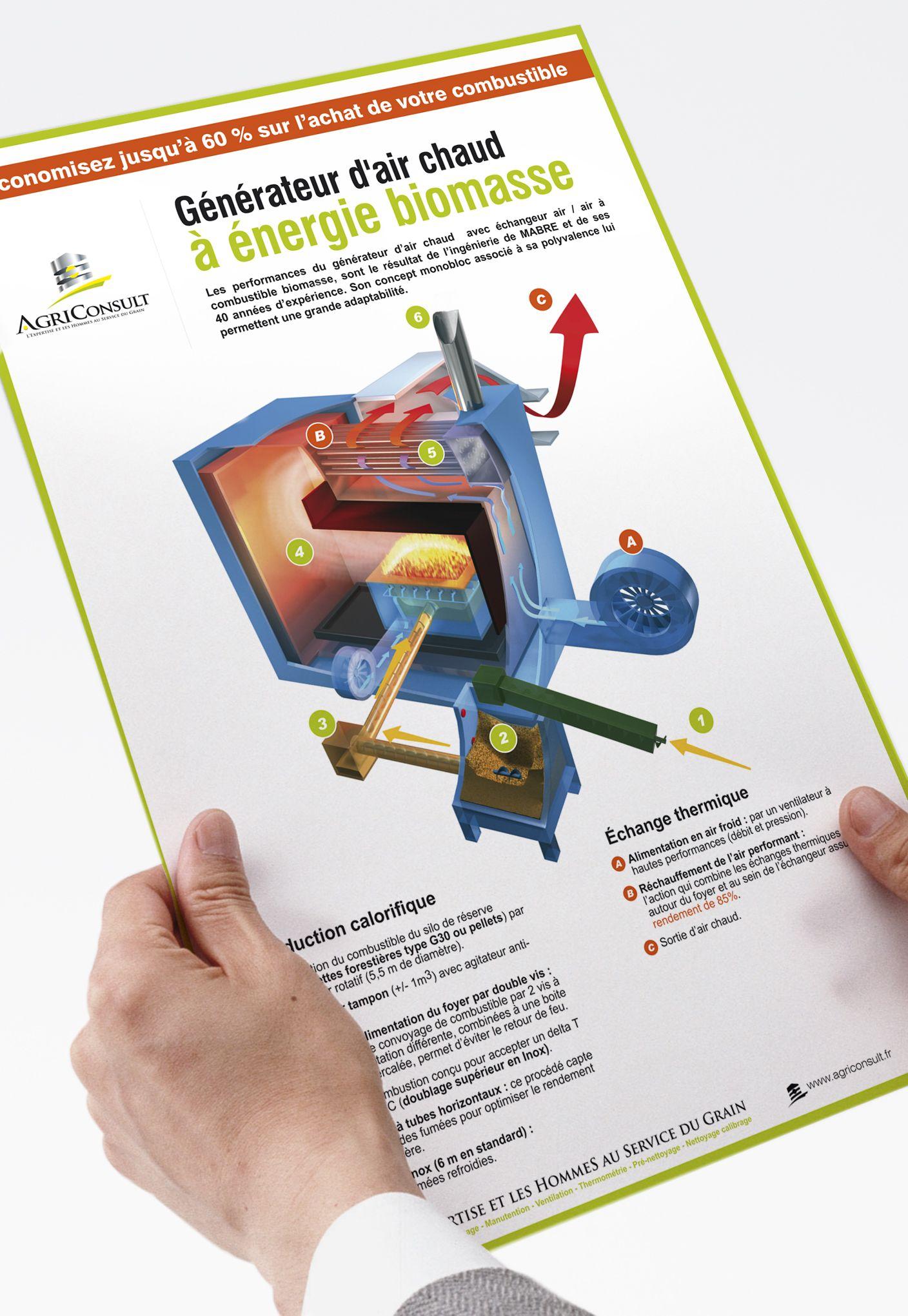 Plaquette produit AgriConsult par La Griffe, Agence de communication, design et web à Dijon