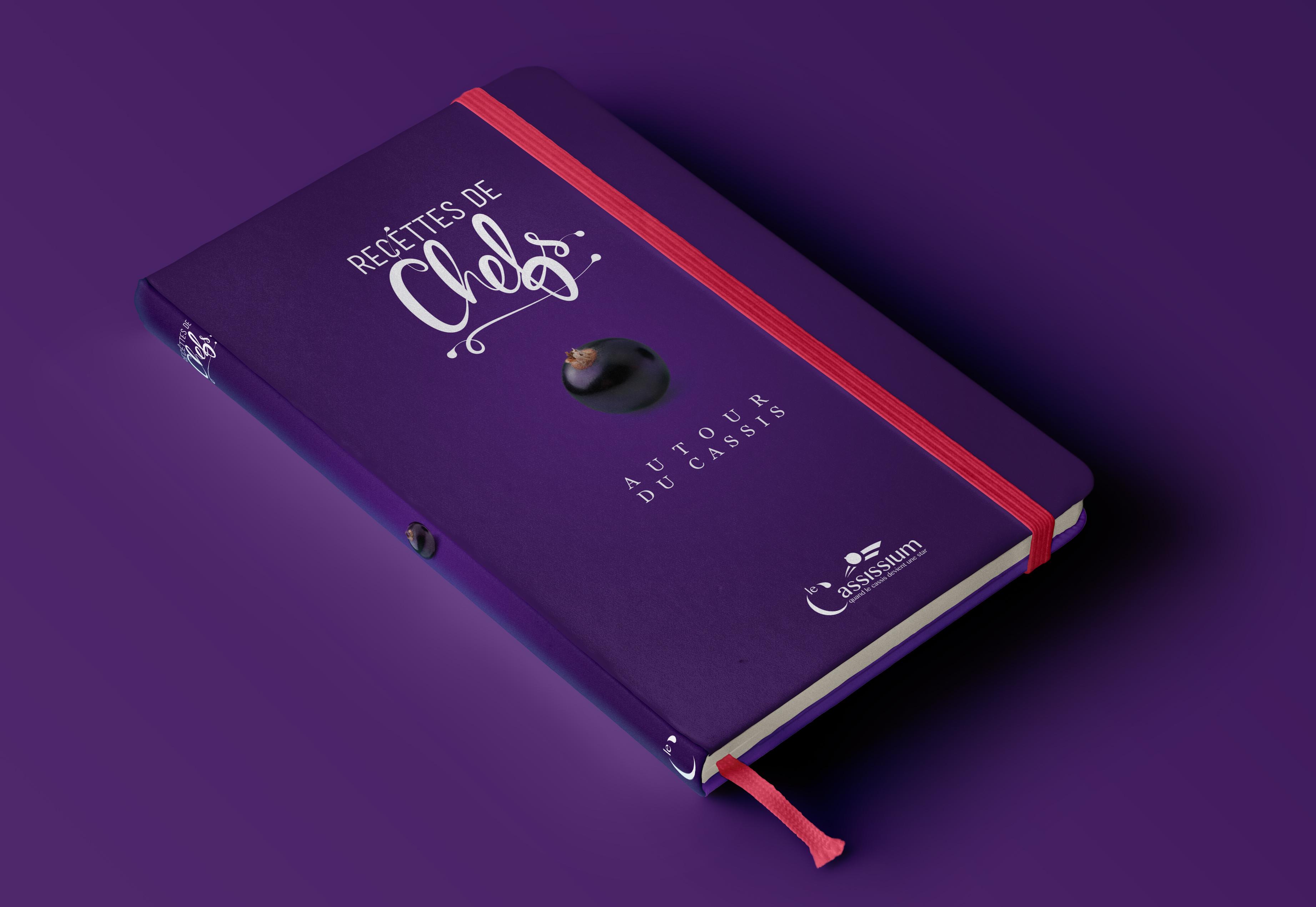 Couverture carnet pour recettes de chefs par La Griffe, Agence de communication, design et web à Dijon