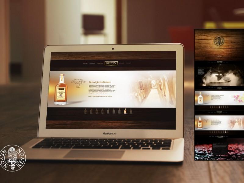 Site internet Reyon par La Griffe, Agence de communication, design et web à Dijon