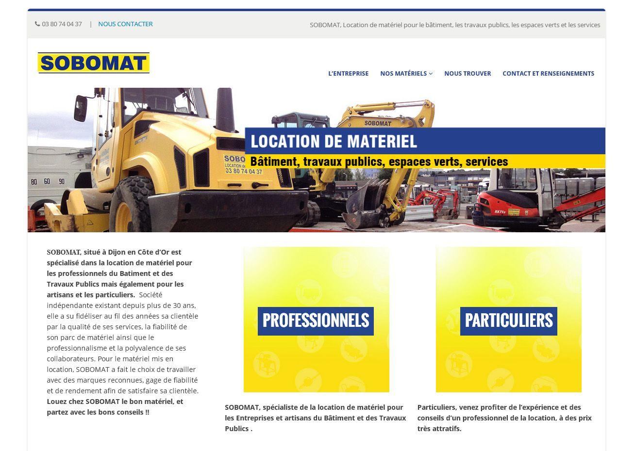Site internet Sobomat par La Griffe, Agence de communication, design et web à Dijon