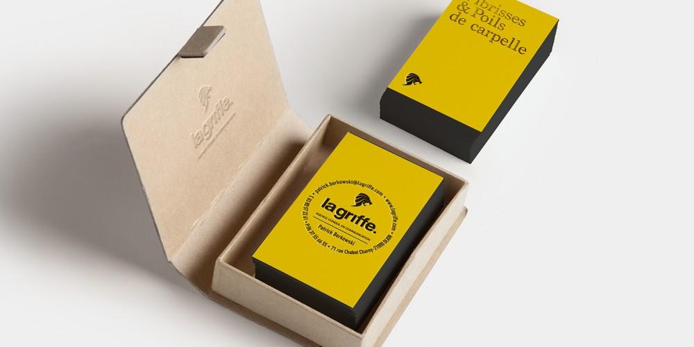 Cartes de visites et coffret La Griffe par La Griffe, Agence de communication, design et web à Dijon