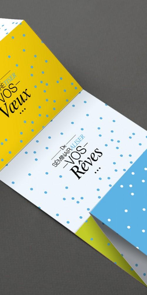 Cartes de voeux Magnesia Process par La Griffe, Agence de communication, design et web à Dijon