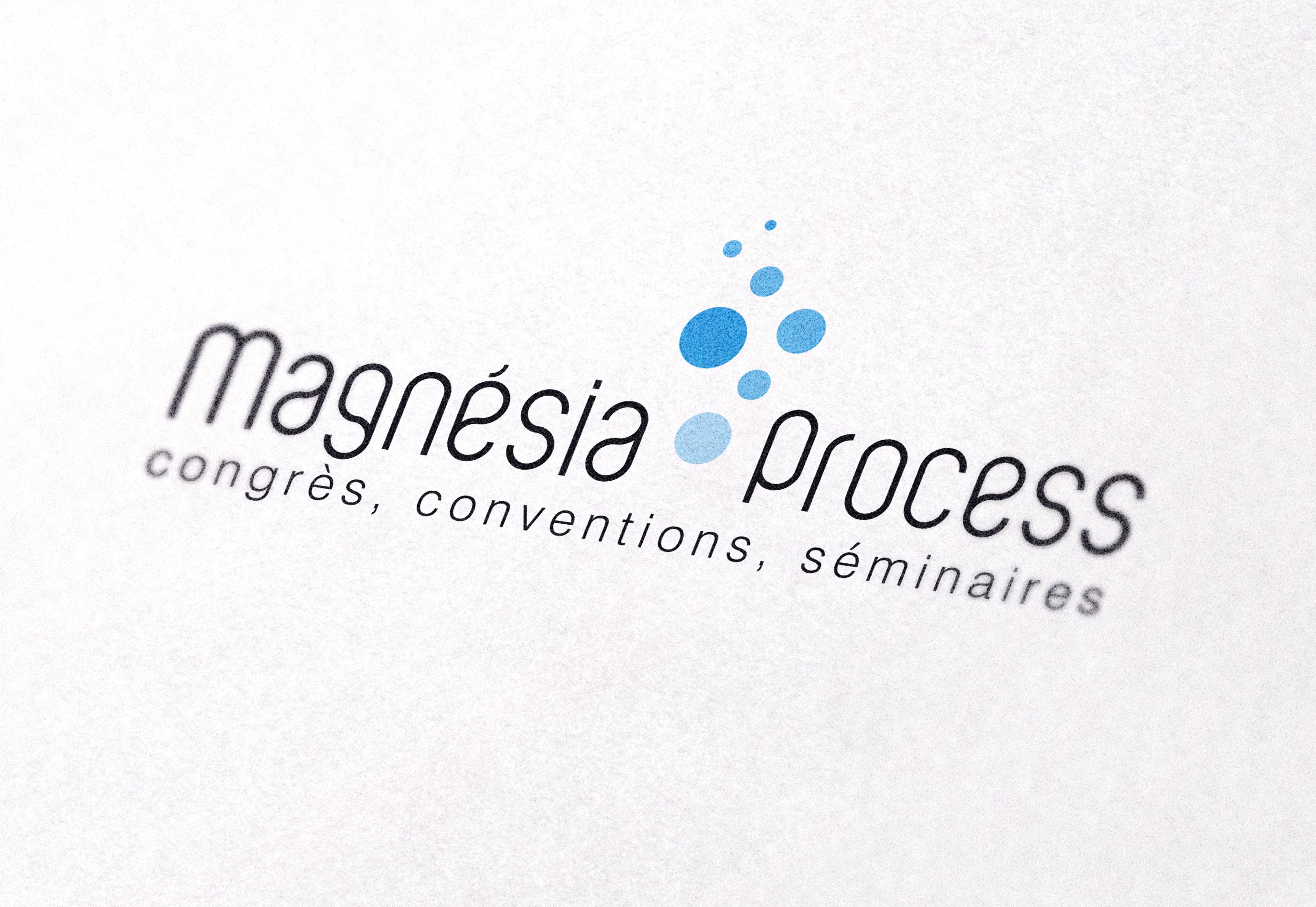 Logo Magnesia Process par La Griffe, Agence de communication, design et web à Dijon