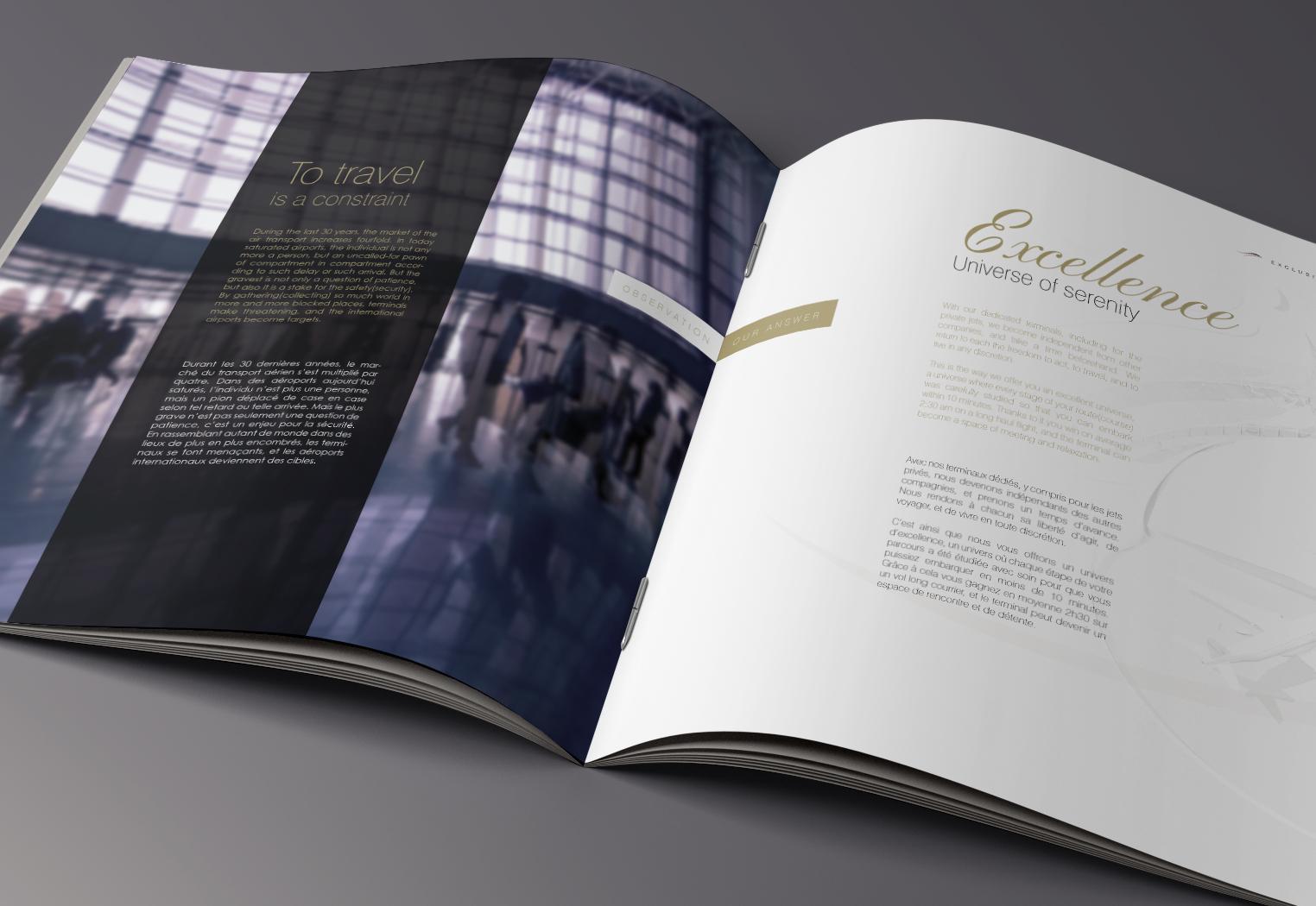 Livret Embassair par La Griffe, Agence de communication, design et web à Dijon
