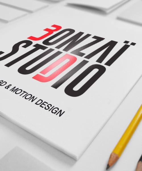 Création de logo BONZAI STUDIO dijon