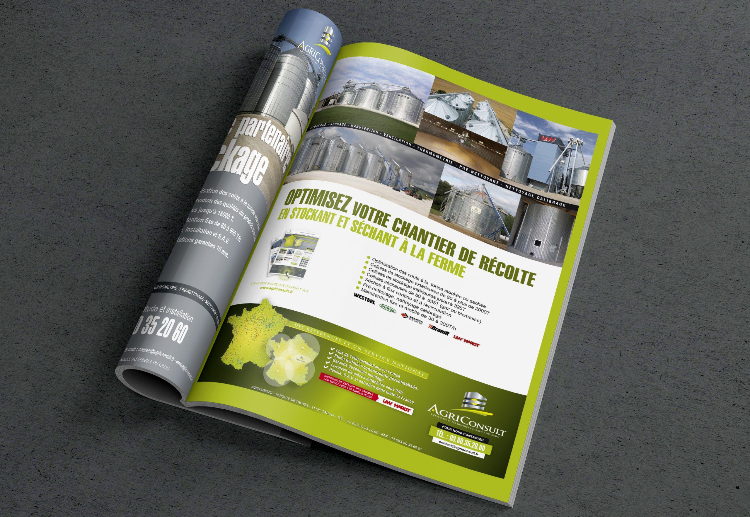 Intérieur livret AgriConsult par La Griffe, Agence de communication, design et web à Dijon