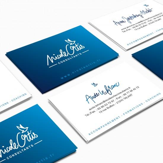 Cartes de visites Nicole Ortis par La Griffe, Agence de communication, design et web à Dijon