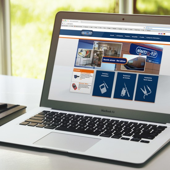 Site electro-PJP par La Griffe, Agence de communication, design et web à Dijon