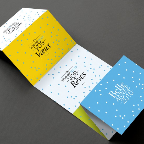 Cartes de bonne année Magnesia Process par La Griffe, Agence de communication, design et web à Dijon