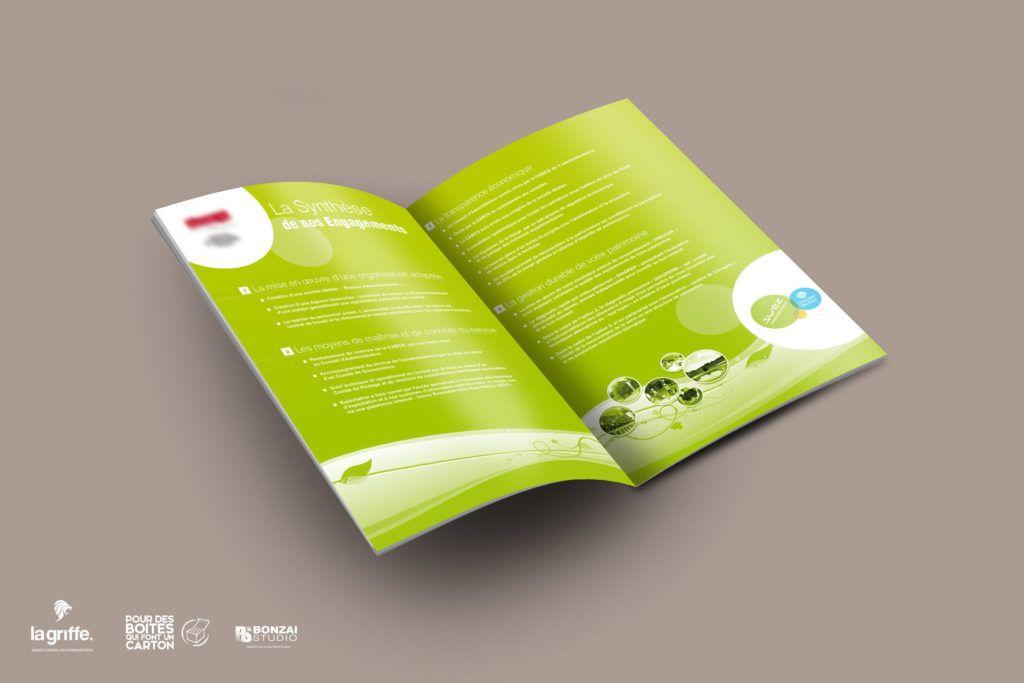 Design graphique livret Suez par La Griffe, Agence de communication, design et web à Dijon