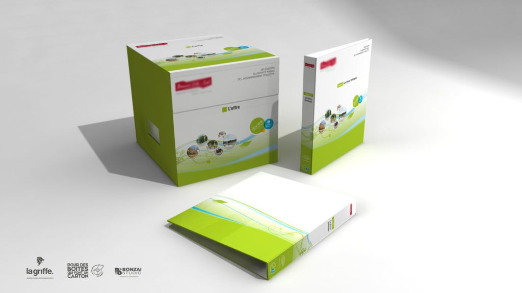 Packaging Suez par La Griffe, Agence de communication, design et web à Dijon