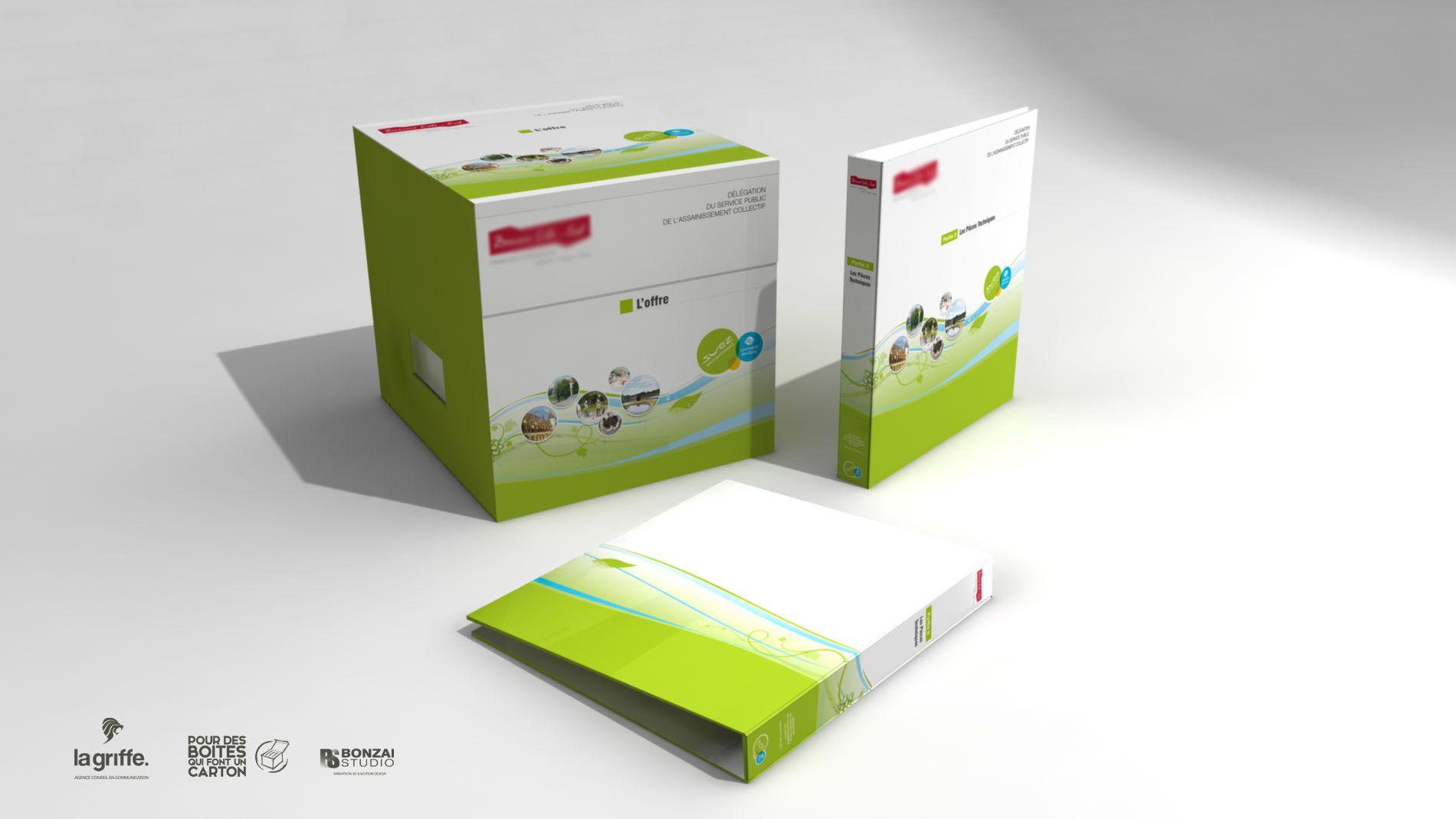 Packaging Suez par La Griffe, Agence de communication, design et web à Dijon
