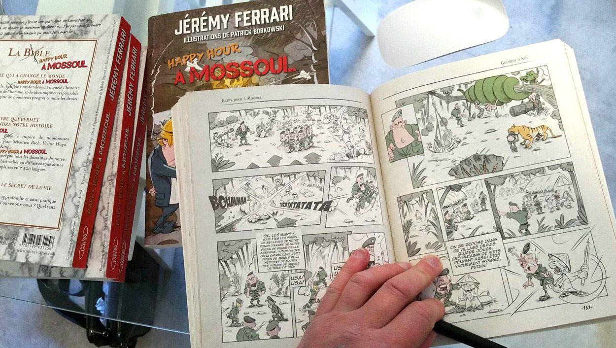 Illustrations pour le livre Happy Hour à Mossoul de Jeremy Frerrari Dark Smile Production Paris