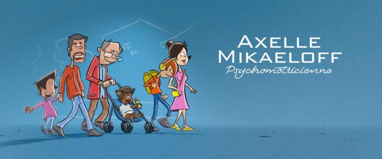 Communication, création de site internet Axelle Mikaeloff psychomotricienne DIJON LA GRIFFE