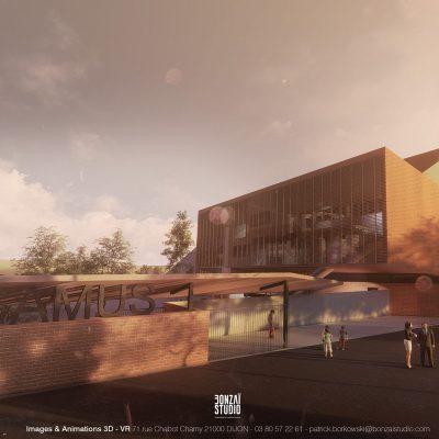 3D dijon : concours d'architecture BONZAI STUDIO
